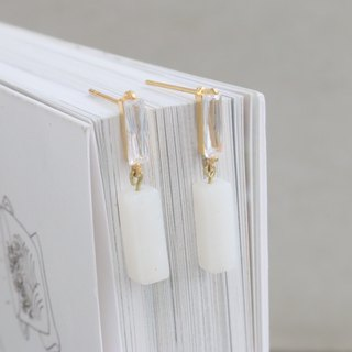 Jade Earrings 1097 - Clear