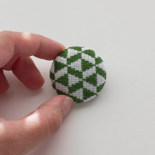 Spur embroidery brooch hairpin pin accessories green