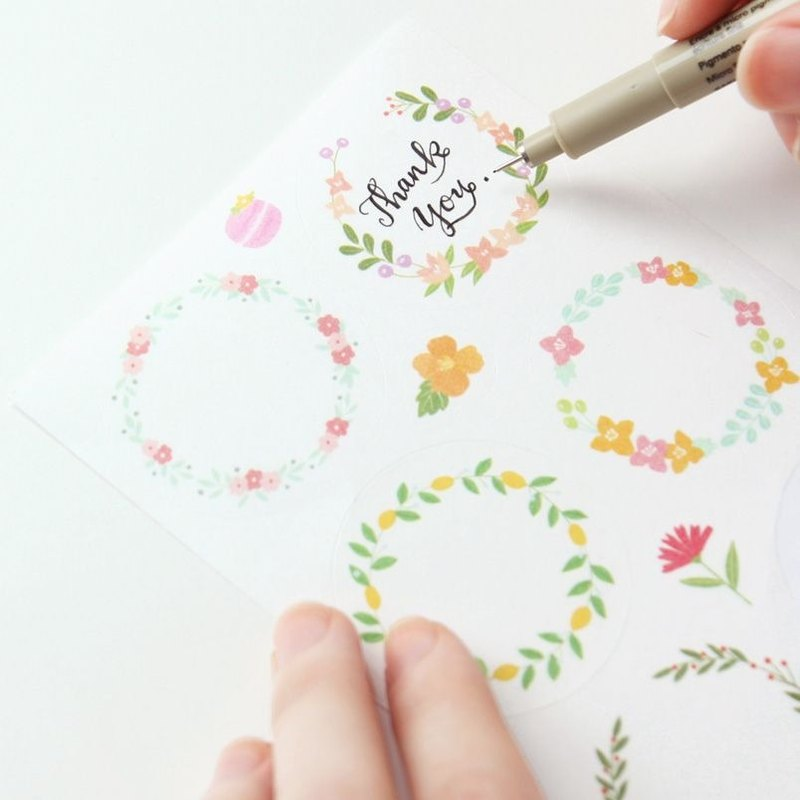 livework-Flower Yang bloom decorative elements of natural decorative stickers group (9 into), LWK34179
