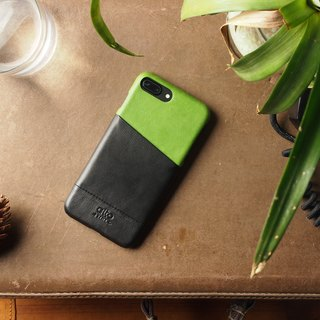Alto iPhone 8 Plus Leather Case Back Cover 5.5吋 Metro - Lyme Green / Raven Black