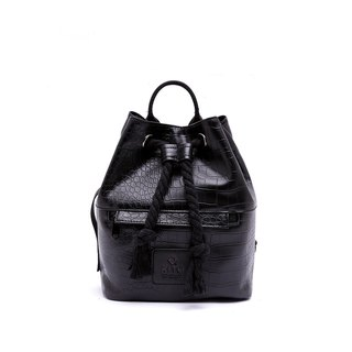 [RITE] Le Tour Series - Dual-use Boxing Small Backpack - Black Crocodile