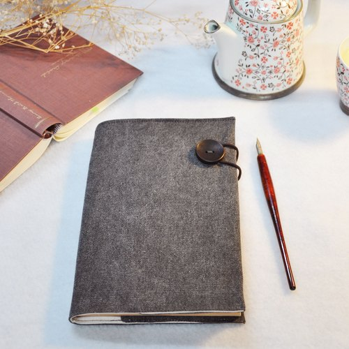 Hand-made book clothing book [You Are the One] brush white iron gray canvas section (A5)