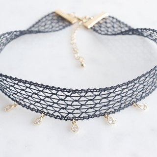 【Black Crochet Choker】