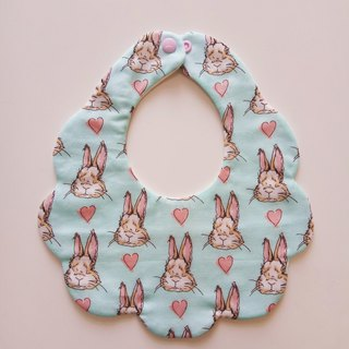 Rabbit cotton yarn bib bimonthly gift bib baby bibs baby bib saliva towel