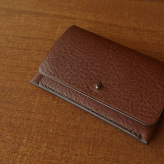 【受注生産】Italian leather Business Card Caseギボシタイプ choco