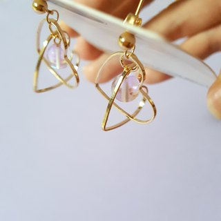 Secret ear pin / Ear clip handmade earrings Korea direct delivery