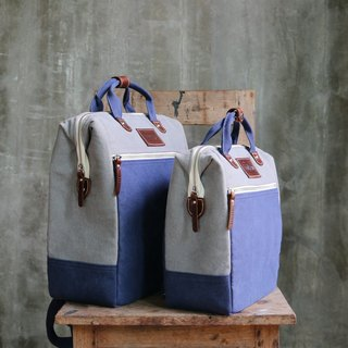 BAG BREAD : GREY NAVY