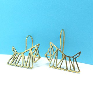 Dog geometric earring hook