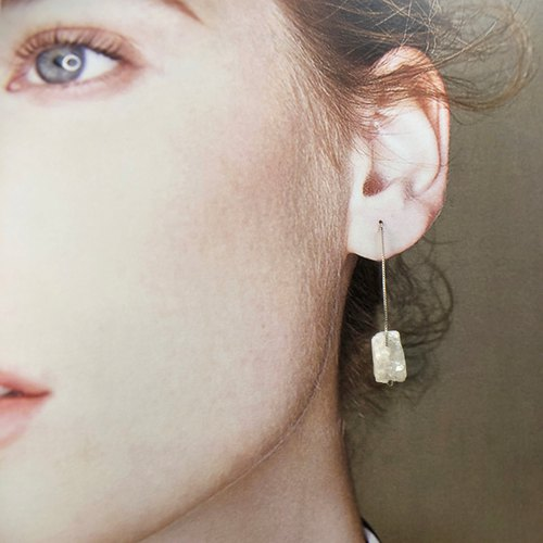 【Christmas Gift 】Natural Crystal 925 Silver Earrings