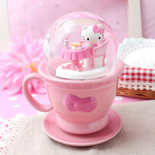 Hello Kitty Afternoon Tea Crystal Ball Music Bell
