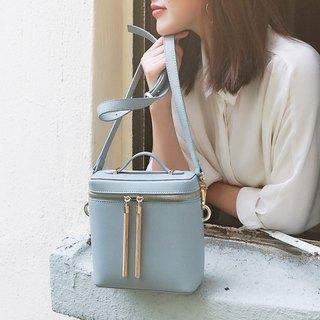 [Hong Kong, Macao and Taiwan] MBS fringed square barrel bag leather diagonal cross bucket bag handcuffs small square bag