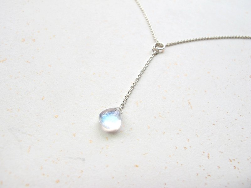 【Necklace Series - Water Droplet】 Moonstone x 925 silverware - Handmade natural stone series