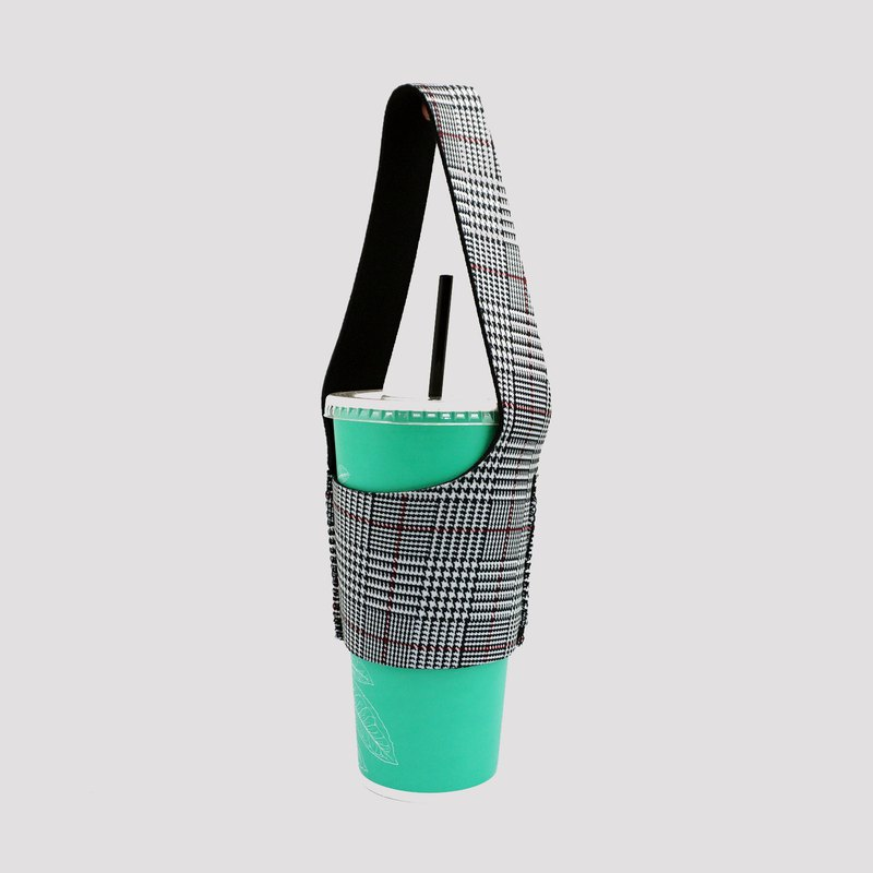 BLR eco-drink bag pouch I walk TU16 Houndstooth pattern