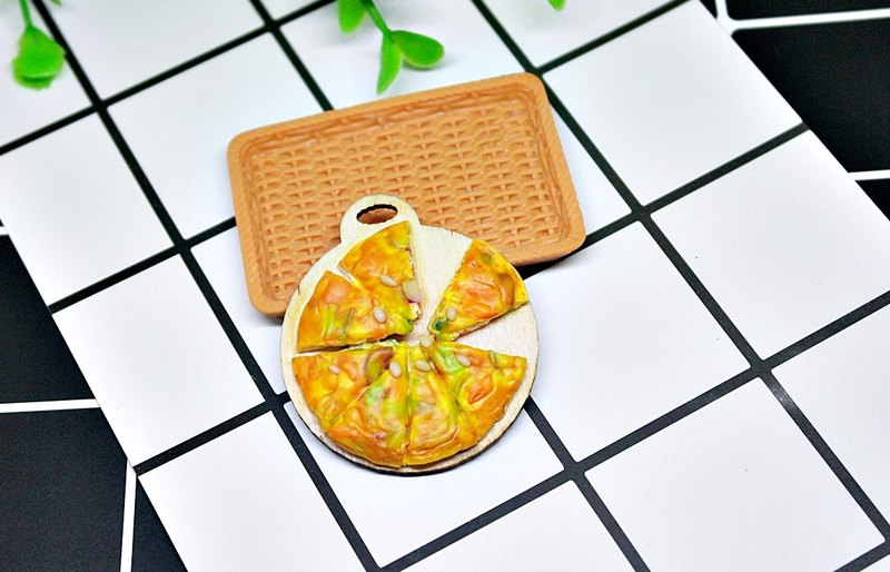 ➽ Clay Series - Korean Seafood Pancake - ➪ Magnet Series # Refrigerator Magnet # # Blackboard Magnet # #Fake Food # # Stationery #
