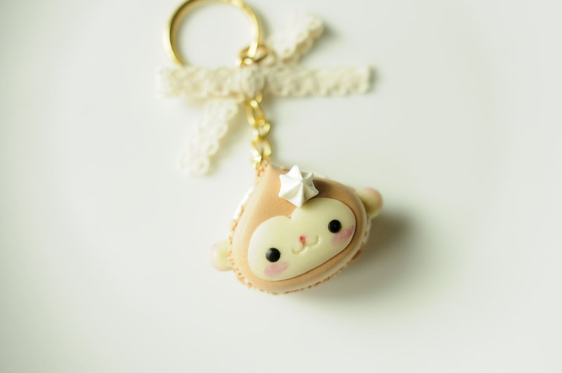 Sweet Dream ☆ cream monkey Macaron / key ring section