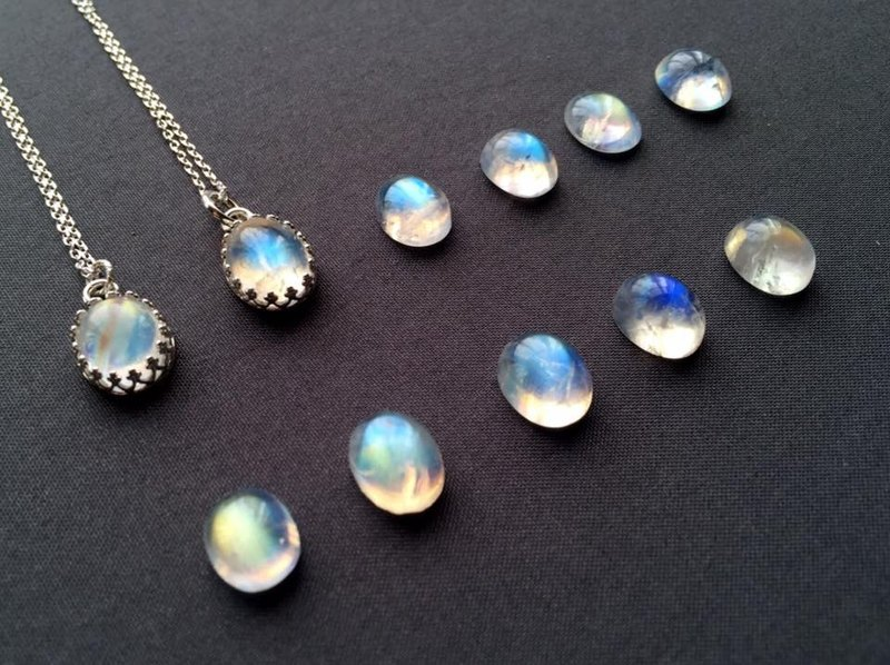 Journal Exclusive Order - Glass Halo Moonstone Necklace (non-buyers do not set about the next single)