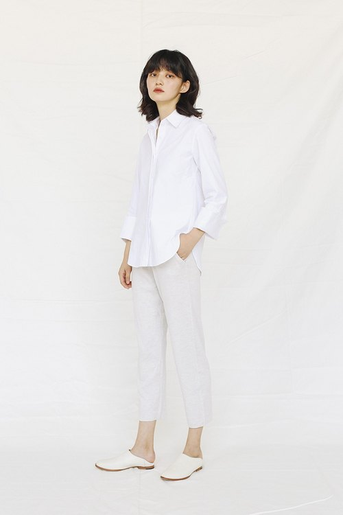 KOOW / Flashback boyfriend simple white shirt simple wide-sleeved cotton million years classic wild
