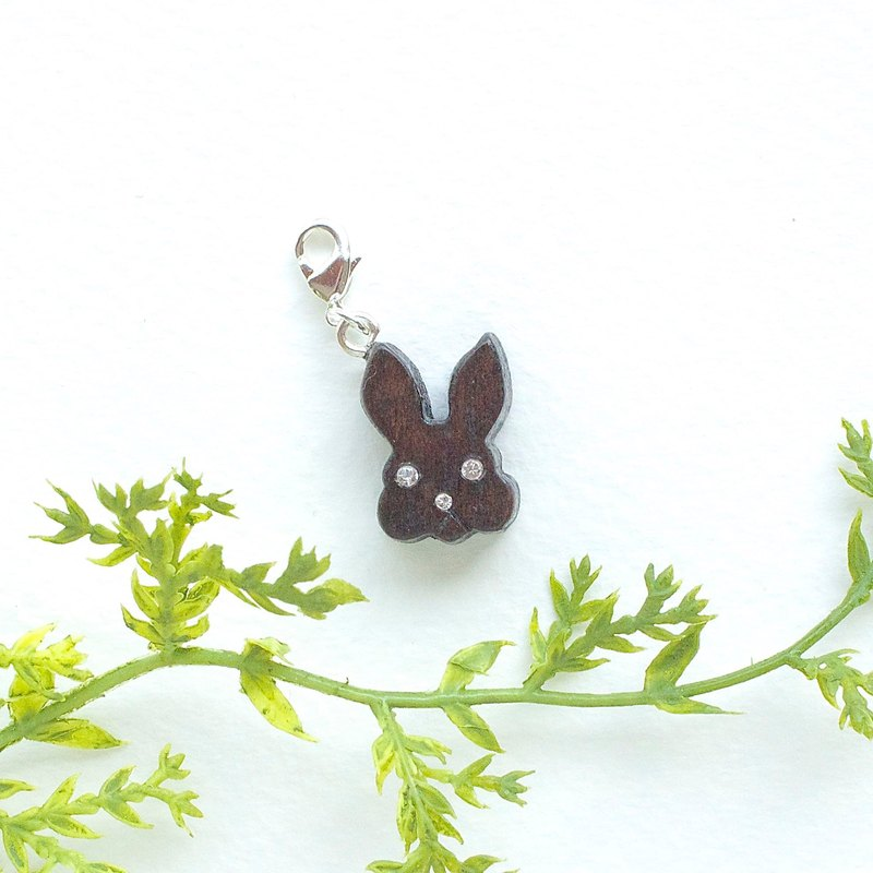 Rabbit wooden charm