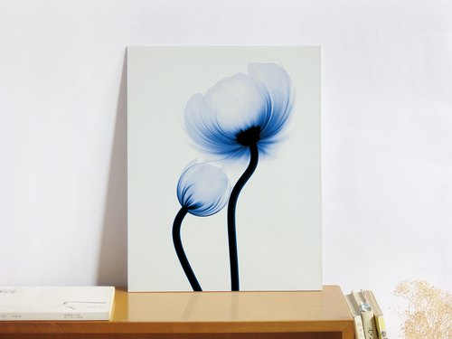 """Flower"" audio decoration painting - birthday gift - 11x14 inch art micro spray"