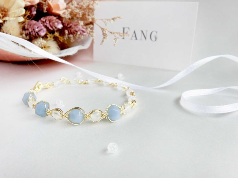 [Baroque angel] Angel Stone Moonstone bracelet series