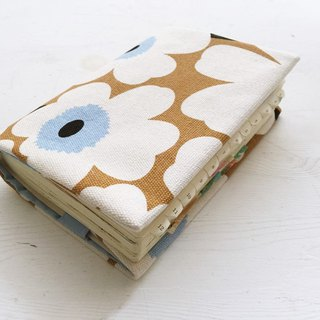 Pop style two-color flower handmade book / book cover - brown (notebook / diary / hand account)