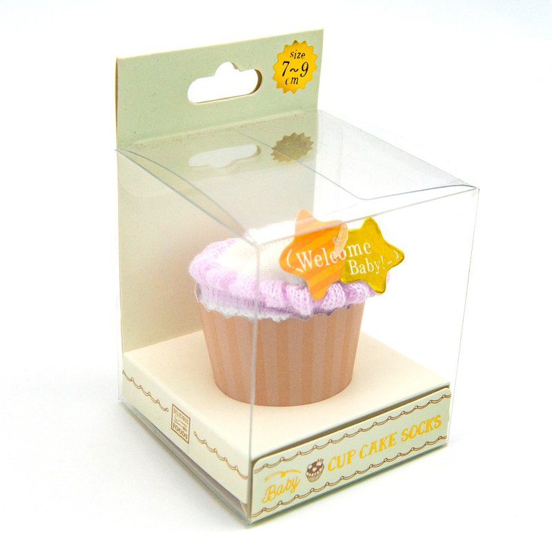 [SUKENO Japanese Design] Welcome Baby! Non-slip baby socks - sweet cup cake