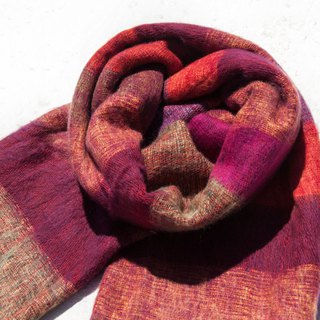 Wool shawl/knit scarf/knit shawl/covering/pure wool scarf/wool shawl-fruit tea