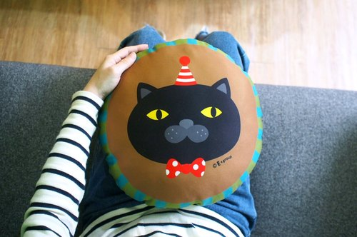 E * group round pillow-sided design (chocolate matcha) peace of the afternoon, the gift pillow