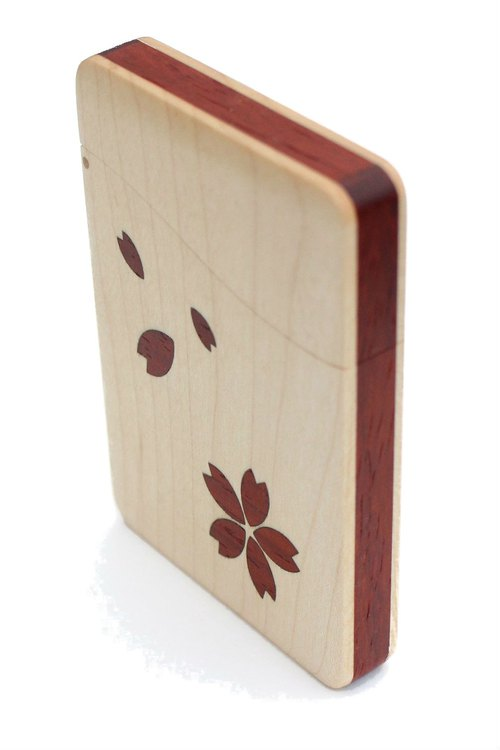 """SAKURA"" name-card holder Maple and Padouk"