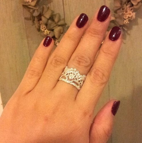 [Jin Xialin ‧] double crown jewelry ring silver lace