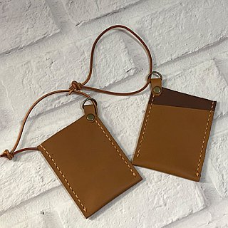 [U6.JP6 handmade leather] - pure handmade imported leather pink-purpose card sets / travel card sets / credit card set