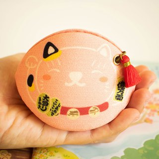 Pink Beckoning cat coin purse.lucky charm. Bring success in love to owner.