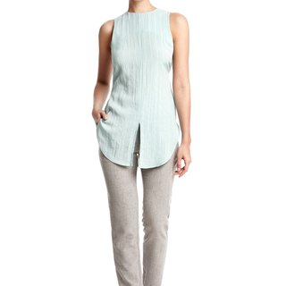 Drew Sleeveless Top in Mint Green