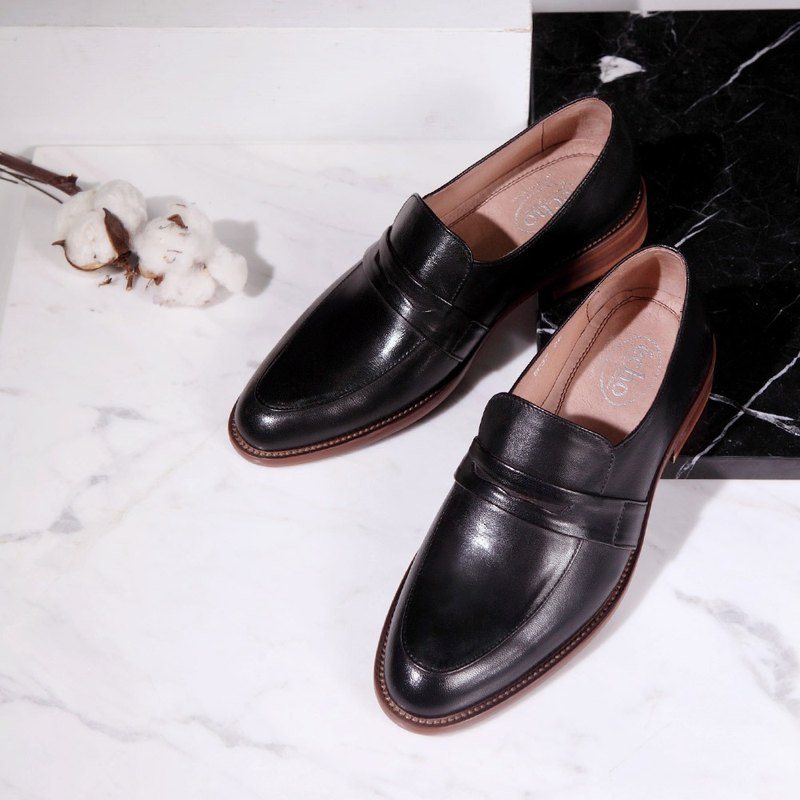 e cho simple and elegant lambskin Carrefour shoes Ec37 black