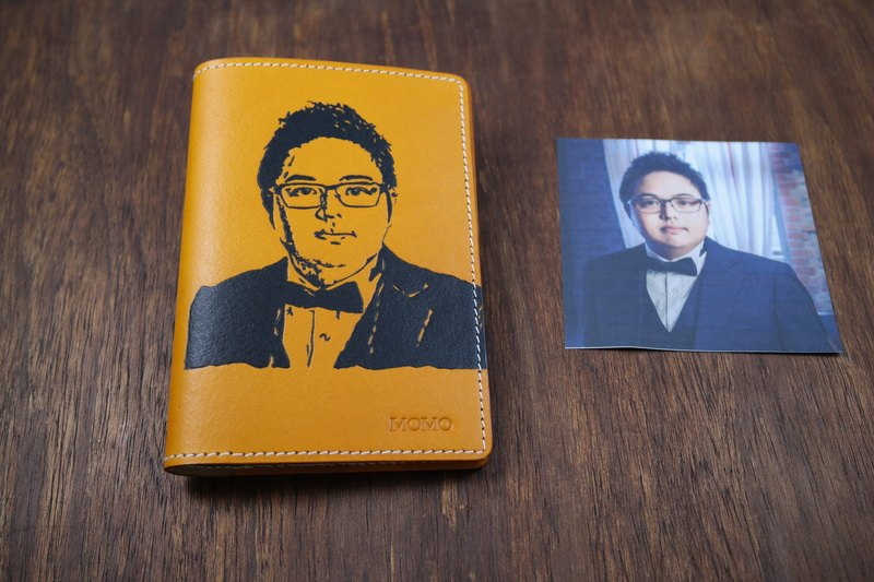 APEE leather handmade ~ Extension passport holder ~ Ming Huang
