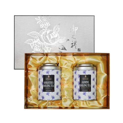 Taiwan Natural Flower Tea Gift - Sweet Osmanthus Oolong & Jasmine Oolong
