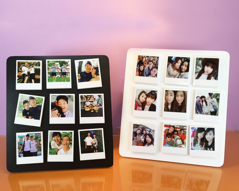 Set Of 9 Pcs Polaroid Magnet With Frame Stand-Dual Pack
