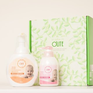 "[O'LITE Ou Lite] Infant Gift ""Hair & Body Mousse + Moisturizer"""