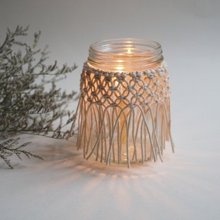 Upcycling Collection -  Macrame Candle Holder   Wedding Vase  Wedding Decor