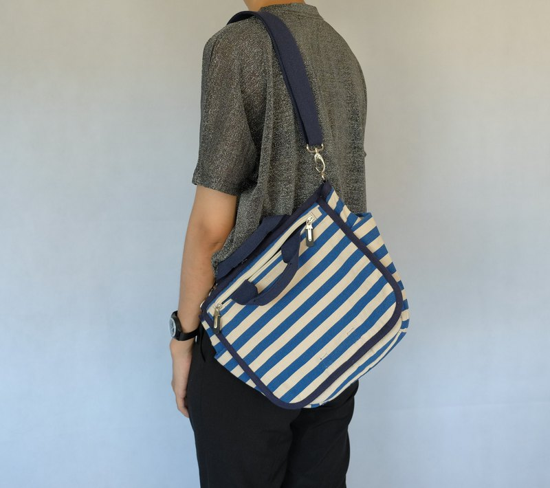 Classic Striped Crossbody Bag - Navy/Millies Stripe (#This one only)