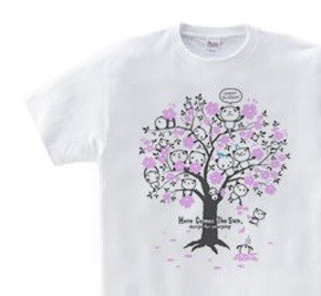 Cherry Blossom · Panda WM - WL • S - XL T - shirt 【Made to Order】