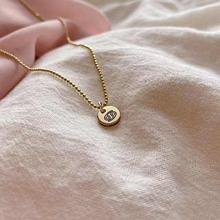 Horoscope sign-brass necklace-Cancer
