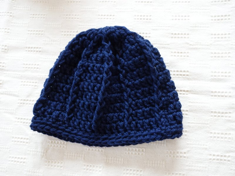 yuoworks / Knit hat / deep blue / beanie / wool