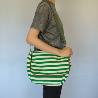 Classic Striped Crossbody Bag - Fresh Green/Rice Stripe (#This one only)