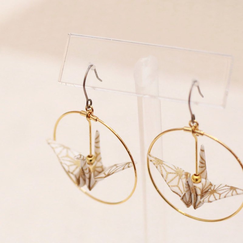 Crane earrings-patternB-