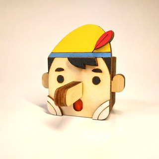 Puppet Pinocchio - magnet / pen plug / rack] playful cute and practical stationery