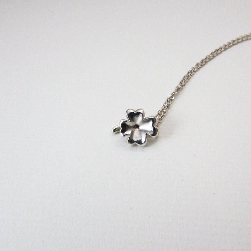 Mittag NL805 lucky charm a necklace_Clover A necklace 925 sterling silver limited designer hand with brand wood jewelry box, silver polishing cloth over-free transport