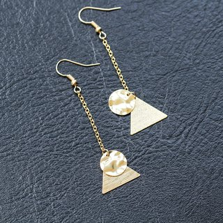 [Da Da Daily] Gold minimalism geometry long earrings