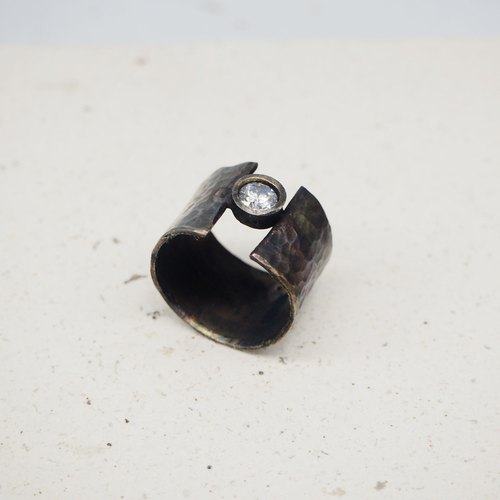 Wide version of Knocking to do the old male ring female ring manual sterling silver