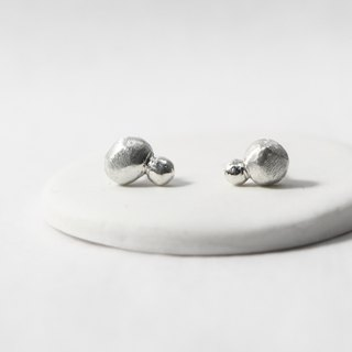 Stone series ⎮ sterling silver earrings ⎮ 925 sterling silver simple style hand-made